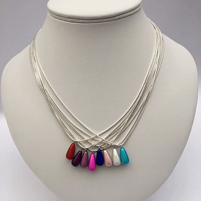 multi raindrops necklaces